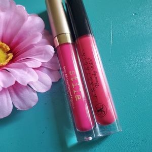 Hot pink gloss and lipstick bundle